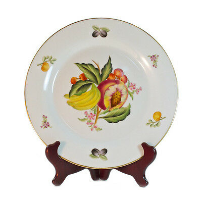 Decorative Vintage Country Style Porcelain White  Plate with Fruit pattern 27cm