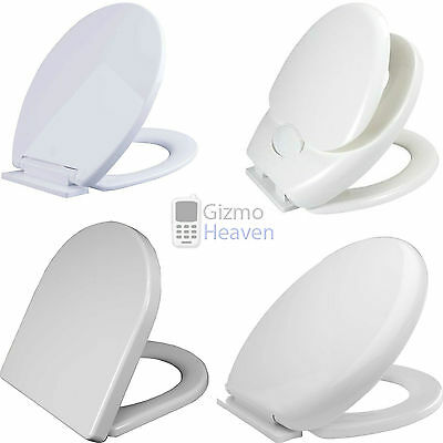 Modern Luxury Soft Close Toilet Wc Seat D-Shape | Oval | Child Friendly | New