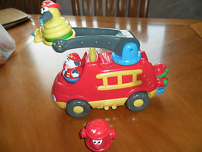 weebles fire engine with 4 weebles