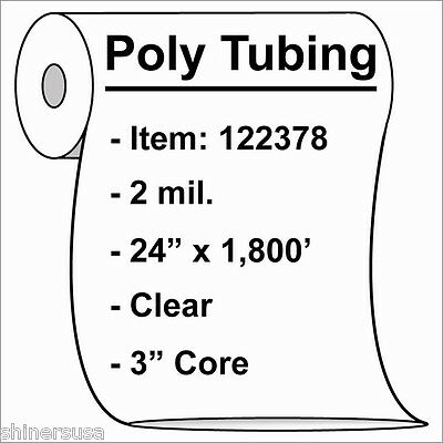 """2 mil Poly Tubing Roll 24""""x1800'  Clear Heat Sealable  122378"""