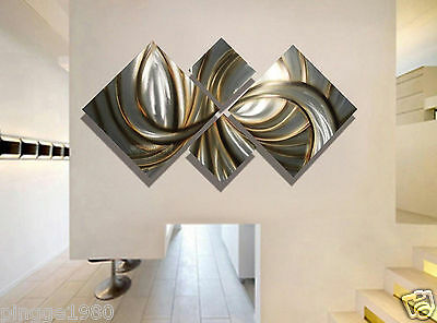Modern abstract metal wall art sculpture paintings wall decor hangings(NO frame)
