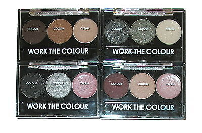 Collection 2000 Work The Colour Eyeshadow Trio Palette ~ Pick A Shade