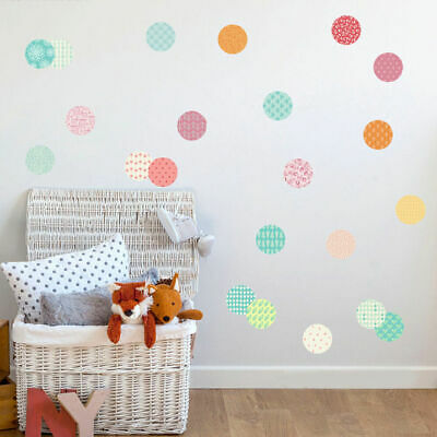 Pack of 54 Pattern Dots Circle Wall Stickers Kids Nursery Vinyl Decal Home Decor