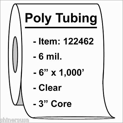 """6 mil Heavy Poly Tubing Roll 6""""x1000'  Clear Heat Sealable  122462"""