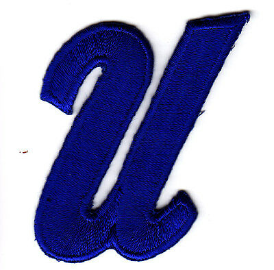 script letters royal blue script 2 letter u iron on
