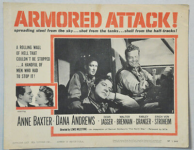 The North Star Armored Attack!  Anne Baxter, Dana Andrews llo150