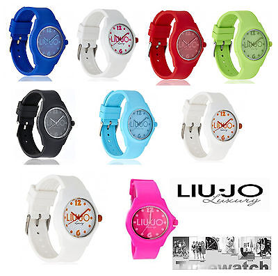 OROLOGIO DONNA LIU JO ENJOY COLLECTION IN SILICONE 9 COLORI + POCHETTE