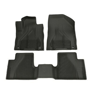 14-17 Jeep Cherokee Black All Weather Rubber Floor Liner Slush Mat Set Mopar OEM