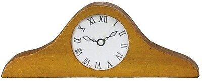 Mantle Clock, Dolls House Miniature, Wooden Clock / Time Piece