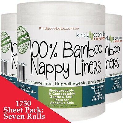1100 Bamboo Flushable Liners Nappy Insert Cloth Biodegradable Organic Bulk pack