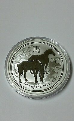 2014 Australia Lunar Year Of The Horse 2 Oz Silver Coin