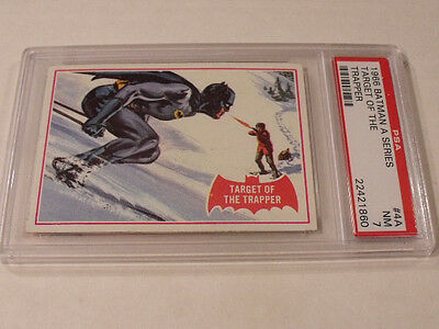 "1966 Topps BATMAN (A Series) Red Bat #4A ""Target Of The Trapper"" - PSA 7 NM"