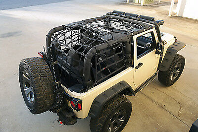 Heavy Duty Black Cargo Net for Jeep Wrangler JK 2007-2018 2 Door 13552.70