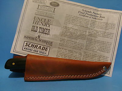 USA Schrade Wolverine Bird and Trout knife Sheath Factory Final Production Run