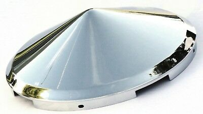 hub caps(2) front 4 even notch pointed cone chrome for Freightliner steel wheel