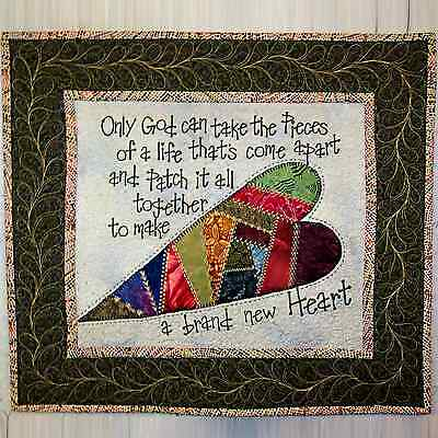 "Quilted Wall Hanging / Table Mat with Words of Comfort 18"" x 20"" _AL-068"