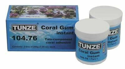 TUNZE CORAL GUM INSTANT 104.76 400g TANK MARINE REEF FLEXIBLE GLUE ADHESIVE FRAG