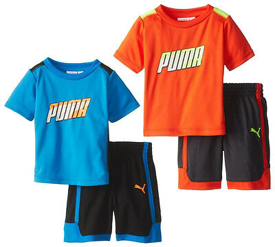 Puma Infants / Toddlers / Kids Formstripe Perf Jersey Shirt & Shorts Set, 2 Colo