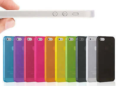 0.3mm Ultra Thin Candy Matte hard case Skin cell phone cover for iphone 5 5S 5th
