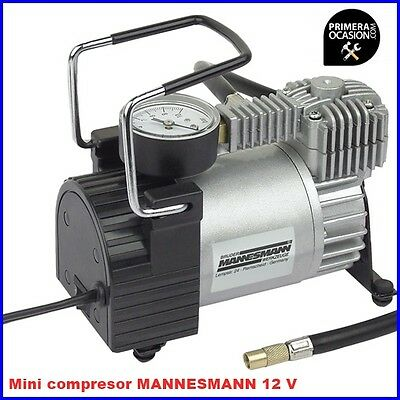 Mini Compresor De Aire Mannesmann Aluminio 10 Bar 140Psi Conector Mechero 12V