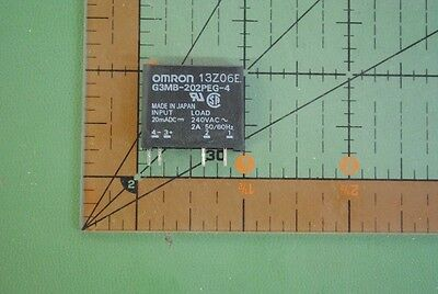 OMRON Solid State Relay G3MB-202PEG-4-DC20MA  Input 20mADC 240VAC 2A PCB SIP 2pc
