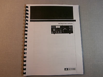 Icom IC-1271A Instruction Manual - Comb Bound & protective covers!