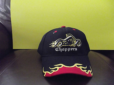 NEW Chopper Flames Black HAT COLLECTIBLE