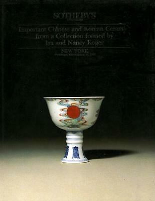 Sotheby's Chinese Korean Ceramics Koger Collection Auction Catalog 1990