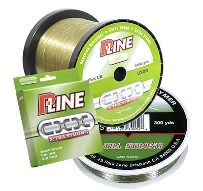 P-LINE CXX MOSS GREEN X-TRA STRONG FISHING LINE 3000 YARDS select 12-20 lb