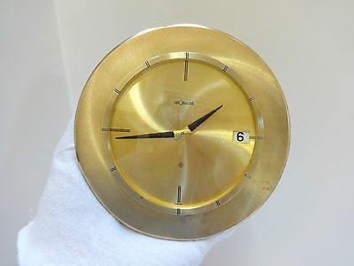 Large Jaeger LeCoultre 8 day desk clock with date