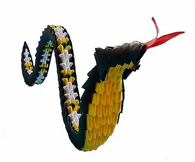 Hand-made 3D Origami Snake- A Great Gift!