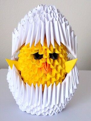 3D Origami Chicks in Eggs- Great Easter Gifts