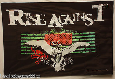 Rise Against Double Flag Baxter 30x40 Cloth Poster Wall Banner Tapestry-New!!!