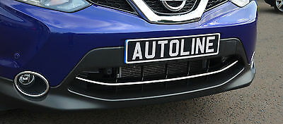 Chrome Front Grille Accent Trim Set Cover Highlight For Nissan Qashqai 2014+