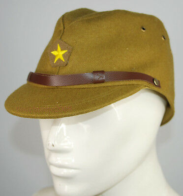 WWII WW2 Japanese Army IJA Officer Field Wool Cap Hat L, badge made of bullion