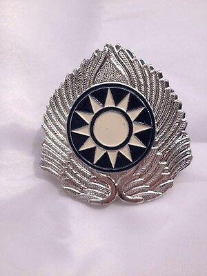 WW2 China KMT Kuomingtang Army Type 46 Field Cap Insignia Badge - CN011