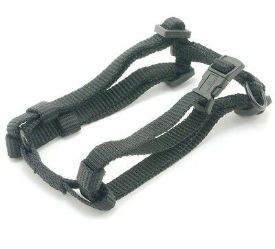 "HAMILTON Adjustable Nylon Comfort Dog Harness, X-Small (3/8"" x 10""-16""), Black"