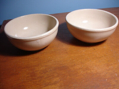 2 Robinson Ransbottom  actual country farmhouse oatmeal bowls Roseville Ohio