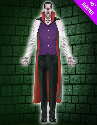 Giant XXL Dracula / Vampire 152 cm Jointed Halloween Hanging Party Decoration
