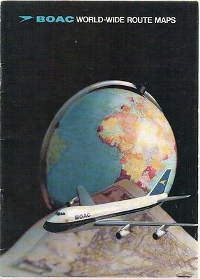 Boac Worldwide Route Maps Booklet 1971 B.o.a.c. Boeing 747