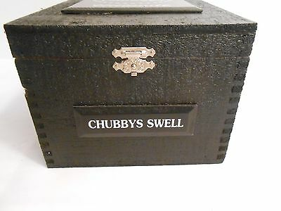 *RARE* CHUBBY'S SWELL ULTIMATE BLACK WOOD CIGAR BOX