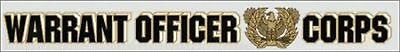 Warrant Officer Corps Window Strip Decal
