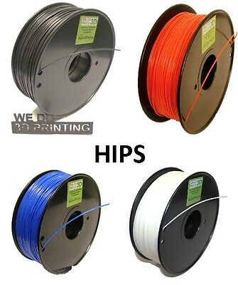 HIPS 3D Printer Filament - 1.75mm & 3mm - High Impact Polystyrene