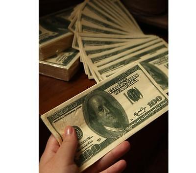 US Dollar Towel Napkins 10 Pages