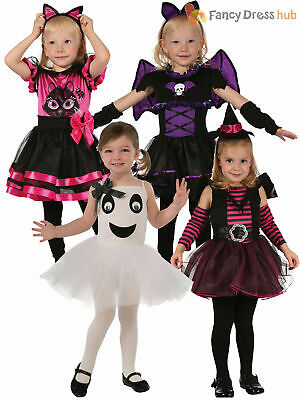 Toddler Girls Halloween Costume Age 2-3 Witch Cat Princess Tutu Fancy Dress Kids