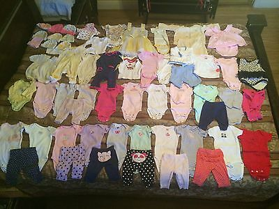 Baby Girl Clothing 0-3 Months New Born Jumpers, Hats, Many Patterns and Designs.