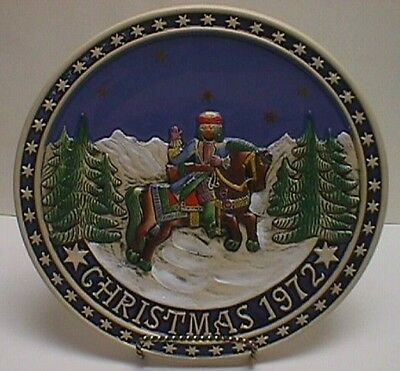 The Bavarian Christmas Plate 1972 West Germany Schmid Design