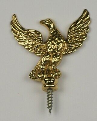 Clock eagle finial brass fixed screw long case mantel wall grandfather ornament