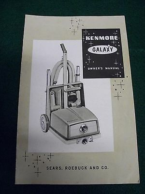 1958 Kenmore Galaxy Owners Manual-Illustrated,Nice Collectible