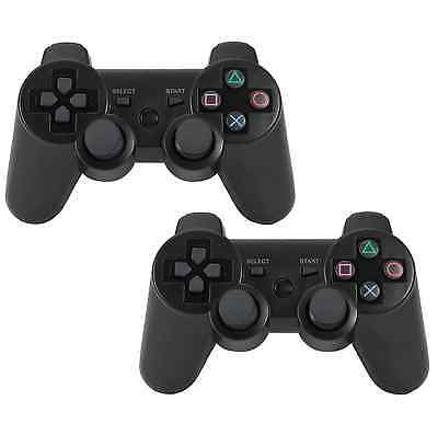 Lot of 2 (2x) Bluetooth Wireless Controller Remote Console for Sony PS3 Black